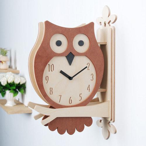 Owl Double Clock(BR)(부엉이)