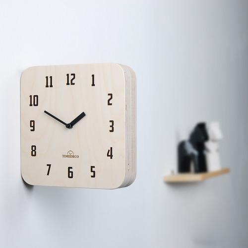 Morden Retro Wood Double Clock (Natural)