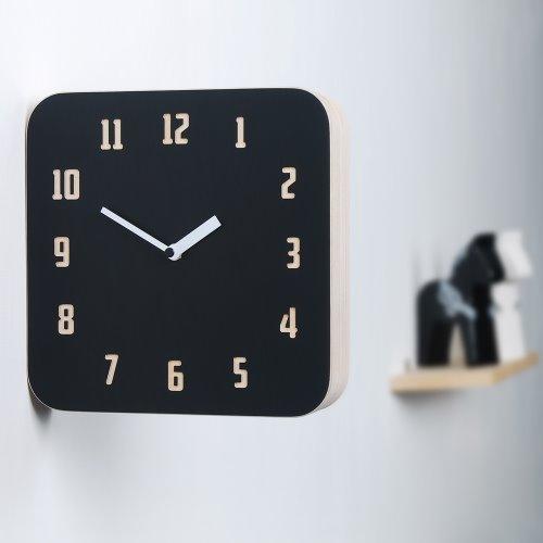 Morden Retro Wood Double Clock (Black&Red)