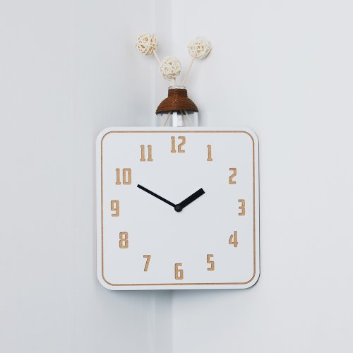 In corner(White) Clock