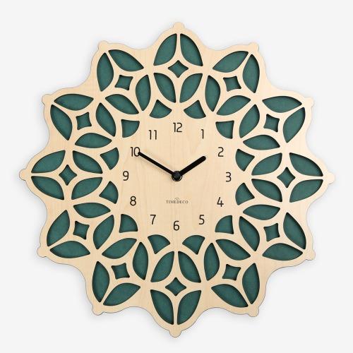 보헤미안 벽시계 내츄럴&그린 (Bohemian Clock - NG)